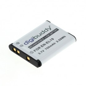 digibuddy - Battery for Nikon EN-EL19 / Sony NP-BJ1 700mAh - Nikon photo-video batteries - ON2682