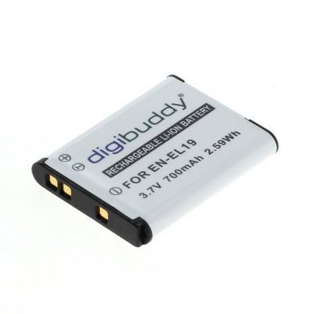 digibuddy - Battery for Nikon EN-EL19 / Sony NP-BJ1 700mAh - Nikon photo-video batteries - ON2682