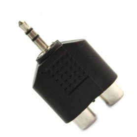 NedRo, 3.5mm Audio Jack Out Plug to 2 RCA Splitter Adapter AL010, Audio adapters, AL010, EtronixCenter.com