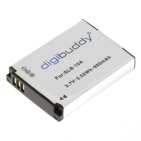 digibuddy - Battery for Samsung SLB-10A JVC BN-VH105 1000mAh - JVC photo-video batteries - ON2701