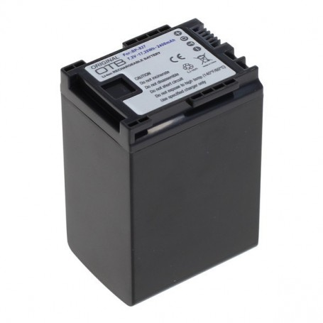 OTB - Battery for Canon BP-827 2400mAh ON2717 - Canon photo-video batteries - ON2717