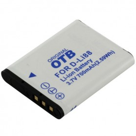 OTB - Battery for Pentax D-Li88 / Sanyo DB-L80 ON2779 - Pentax photo-video batteries - ON2779 www.NedRo.us
