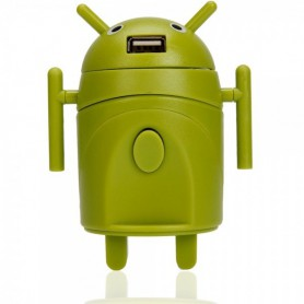 Android Style Multi-Function Travel Power Plug Adaptor Green