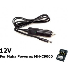 POWEREX, Car Charger 12v DC for Maha Powerex MH-C9000, Battery charger accessories, NK033