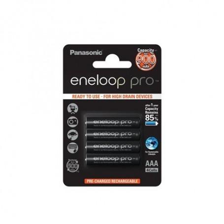 Eneloop - Panasonic eneloop PRO AAA 900mAh 1.2V Rechargeable Battery - 4 pieces blister - Size AAA - ON1317-CB