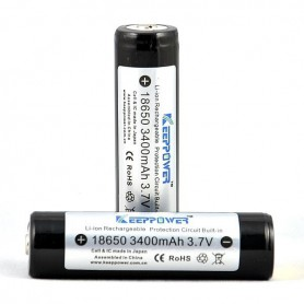 KeepPower, KeepPower 18650 Rechargeable battery 3400mAh, Size 18650, NK297-CB