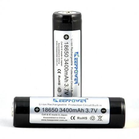 KeepPower - KeepPower 18650 Rechargeable battery 3400mAh - Size 18650 - NK297-CB
