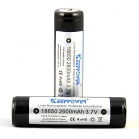 KeepPower - KeepPower 18650 2600mAh rechargeable battery - Size 18650 - NK217-CB