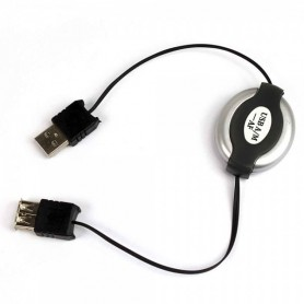 NedRo - Data Cable 1M Roll-In USB M to USB F Black NED896 - USB to USB cables - NED896