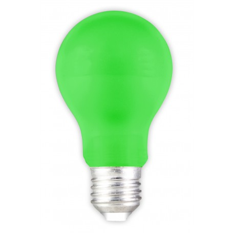 Calex - E27 1W Green LED GLS-lamp A60 240V 12lm CA032 - E27 LED - CA032
