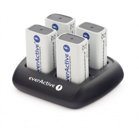 EverActive - everActive 4x 9V Professional Charger NC-109 (EU Plug) - Battery chargers - BL135