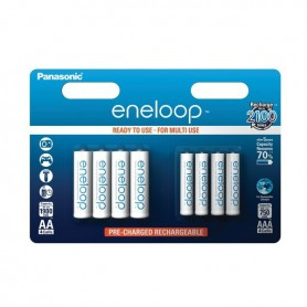 Eneloop, 8x Panasonic eneloop AA/AAA 4+4 Recharable Power-Pack ON2817, Size AAA, ON2817