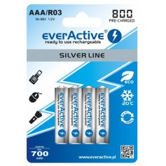 EverActive, AAA 800mAh Rechargeables everActive Silver Line, Size AAA, BL153-CB