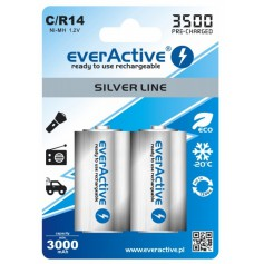 everActive R14 C-Cell 3500mAh 1.2V NiMh Silver Line rechargeable battery