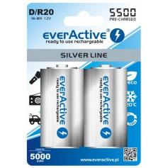 R20 D 5500mAh everActive Rechargeables Silver Line