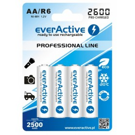 EverActive - R6 AA 2600mAh everActive Professional Line Rechargeable batteries - Size AA - BL156-CB
