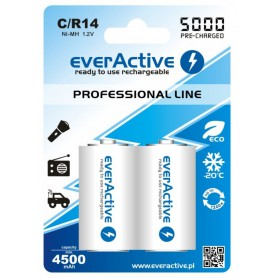 EverActive, R14 C 5000mAh Rechargeables everActive Professional Line, Size C D and XL, BL157-CB