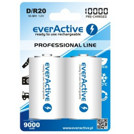 EverActive - R20 D 10000mAh Rechargeables everActive Professional - Size C D and XL - BL158-CB