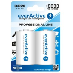 R20 D 10000mAh Rechargeables everActive Professional