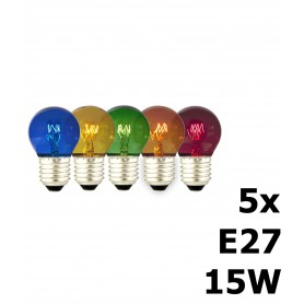 Calex, 5in1 5 colours Party Ball Lamp tray 15W 240V E27 CA057, E27 LED, CA057, EtronixCenter.com