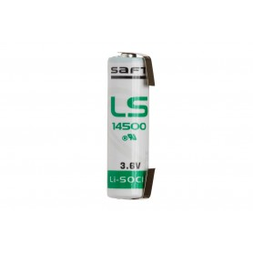 SAFT - U-Tag SAFT LS14500 / AA lithium battery 3.6V - Size AA - NK097-CB