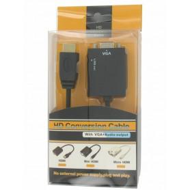 NedRo - HDMI to VGA + Audio Converter Cable YPC288 - HDMI adapters - YPC288 www.NedRo.us