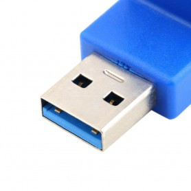 NedRo, USB 3.0 Type A Adapter Male to Female Angle UP AL660, USB adapters, AL660, EtronixCenter.com
