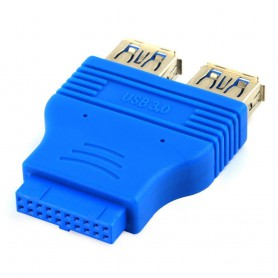 NedRo, USB 3.0 Pinheader F 20pin to Dual USB 3.0 Female AL662, USB adapters, AL662
