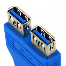 NedRo - USB 3.0 Pinheader F 20pin to Dual USB 3.0 Female AL662 - USB adapters - AL662 www.NedRo.us