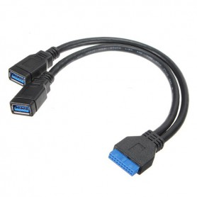 NedRo, USB 3.0 Pinheader 20 Pin to Dual USB 3.0 Female AL668, USB adapters, AL668
