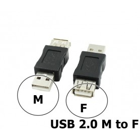 NedRo, USB 2.0 A Female - Male Adapter, USB adapters, AL848