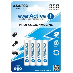EverActive - everActive Ni-MH R03 AAA 950mAh Professional Line - Size AAA - BL168-CB