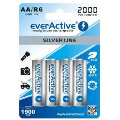 EverActive - everActive Ni-MH R6 AA 2000 mAh Silver Line - Size AA - BL170-CB