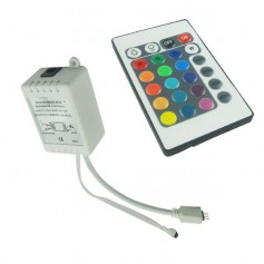 RGB LED IR Remote Controller 24 buttons + cabinet Male
