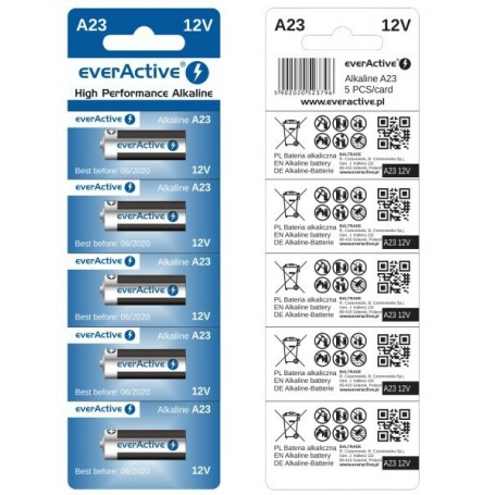 EverActive - everActive A23 23A 12V 55mAh Alkaline batteries - Other formats - BL171-CB