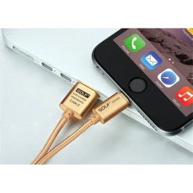 GOLF - 200cm cable for iPhone 6 Plus 5 5S iPad 4 Air 2 Gold AL613 - iPhone data cables  - AL613 www.NedRo.us