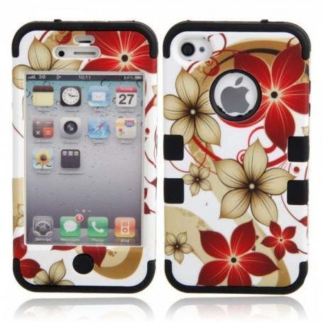 NedRo, Hawaiian Flower protective case for iPhone 4 / 4S, iPhone phone cases, WW87010948, EtronixCenter.com