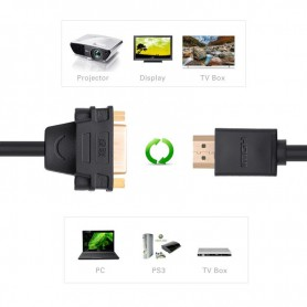 UGREEN, DVI (24+5) Female to HDMI Male Adapter Cable UG058, HDMI adapters, UG058, EtronixCenter.com
