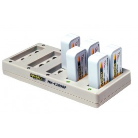 POWEREX, Maha Powerex MH-C1090F for 9V Batteries EU Plug, Battery chargers, MH-C1090F