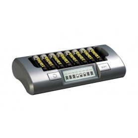 POWEREX - Maha Powerex MH-C800S 8-Cell for AA AAA NiMH NiCD Batteries - Battery chargers - MH800S