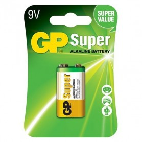 GP, GP Super Alkaline 6LR61/9V battery BL185, Other formats, BS265-CB, EtronixCenter.com