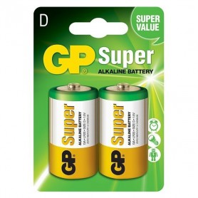 GP, GP Super Alkaline LR20/D battery, Size C D 4.5V XL, BS099-CB