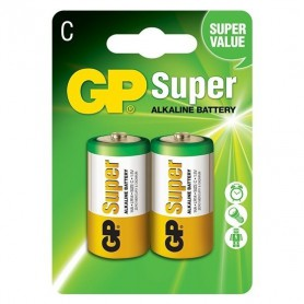GP - GP LR14 R14 C-Cell Super Alkaline single use battery - Size C D 4.5V XL - BS100-CB