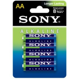 Sony, 4-Pack Sony Blue Alkaline LR6 AA, Size AA, BL197, EtronixCenter.com
