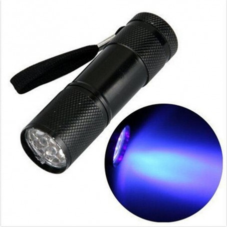 NedRo, Mini 9 LED Aluminium UV Ultra Violet Flashlight purple light, Flashlights, LFT30-CB