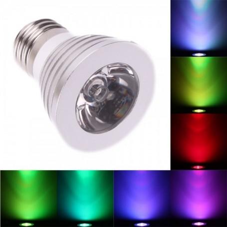 NedRo - E27 4W 16 Color Dimmable LED Bulb with Remote Control - E27 LED - AL131-CB www.NedRo.us
