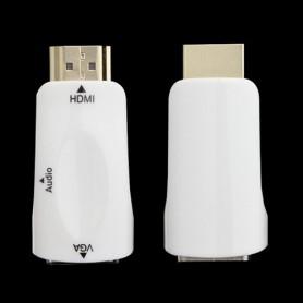 NedRo - HDMI to VGA converter adapter + audio - HDMI adapters - AL969-CB www.NedRo.us