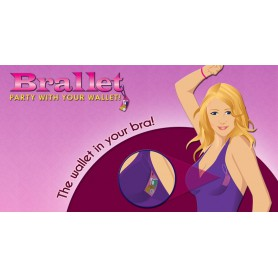 Bye Bra, Brallet Pink party, key, license, credit card cash holder 9132, Brallet, 9132