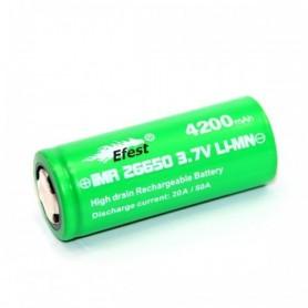 Efest, Efest IMR26650 Green 4200mAh 20A 3.7V Unprotected, Other formats, NK140-CB