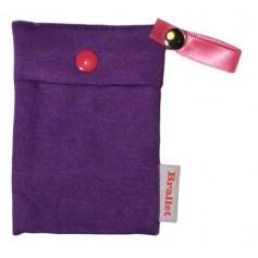 Brallet Mon cherie purple, key, license, credit card cash holder 9133